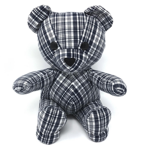 memorial teddy bear made from a shirt