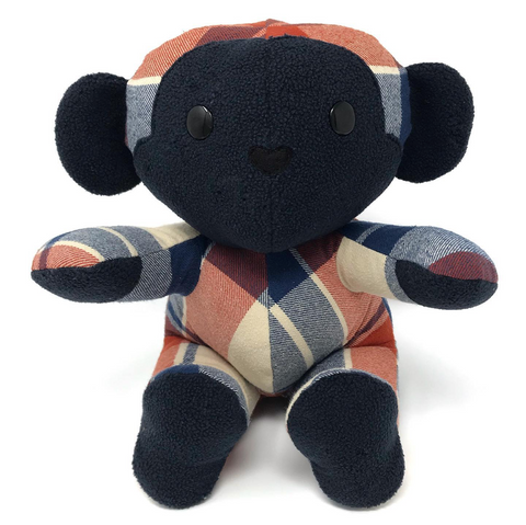 memorial monkey stuffed animal