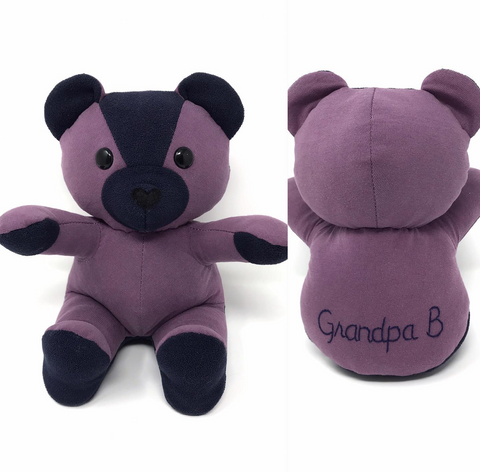 grandpa's memory bear made from shirts