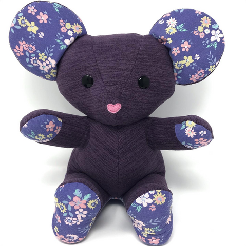 Memory Mouse Stuffed Animal made from clothes