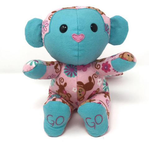 keepsake memory monkey stuffed animal