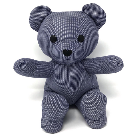 navy gingham memorial teddy bear