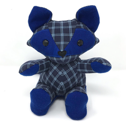 memory fox made from clothes