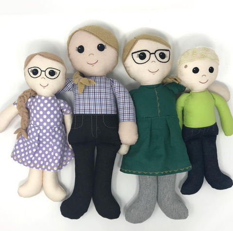 custom doll family - two moms two kids