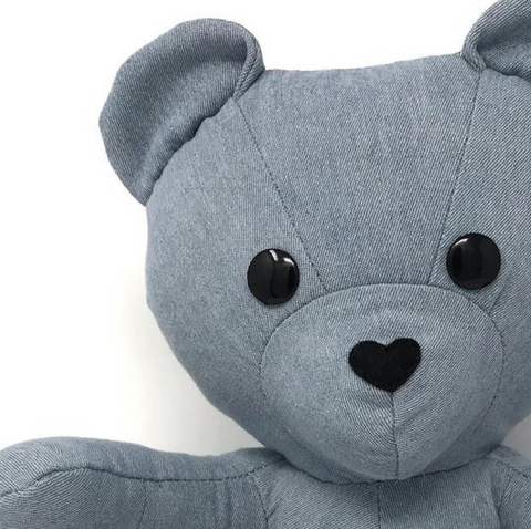 memorial keepsake teddy bear made from a shirt
