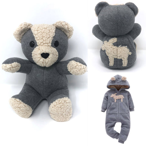 fleece baby clothes bear
