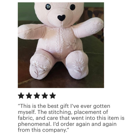 memorial bear made from a sweater