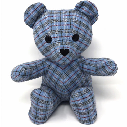 plaid shirt memory bear