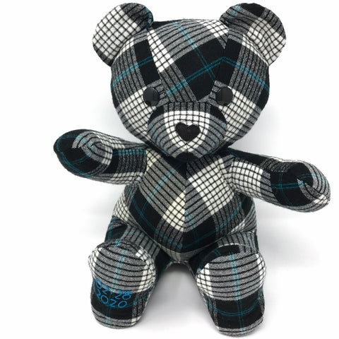 memorial bear made from a shirt