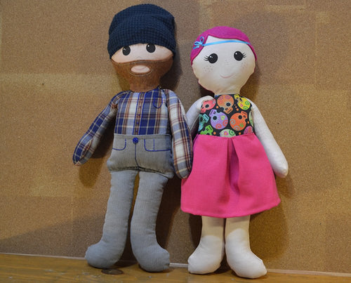 Custom Doll Family: Adult Couple - Nestling Kids Keepsakes