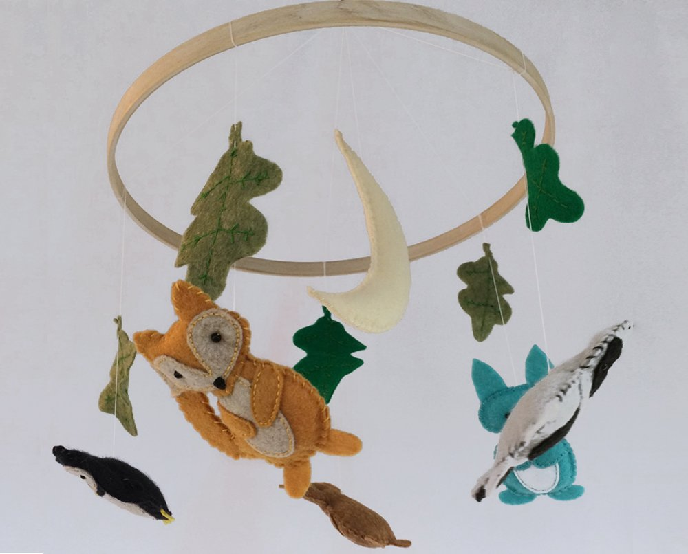 Woodland Animals Baby Crib Mobile
