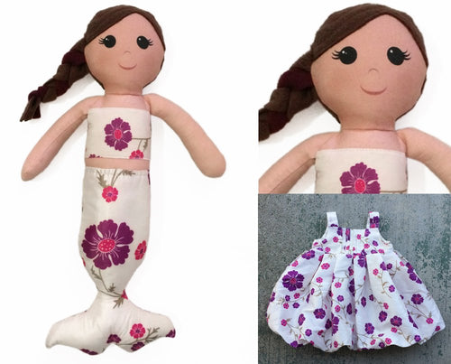Mermaid Keepsake Memory Doll - Nestling Kids Keepsakes