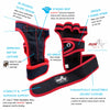 Guantes con muñequera Weight Lifting (Weight Lifting gloves wrist support) *** Incluye regalos (Includes gifts) - Lauda Shopping