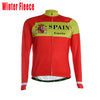Maillot de invierno de ciclismo España (Spain team red Long sleeves Cycling jersey)