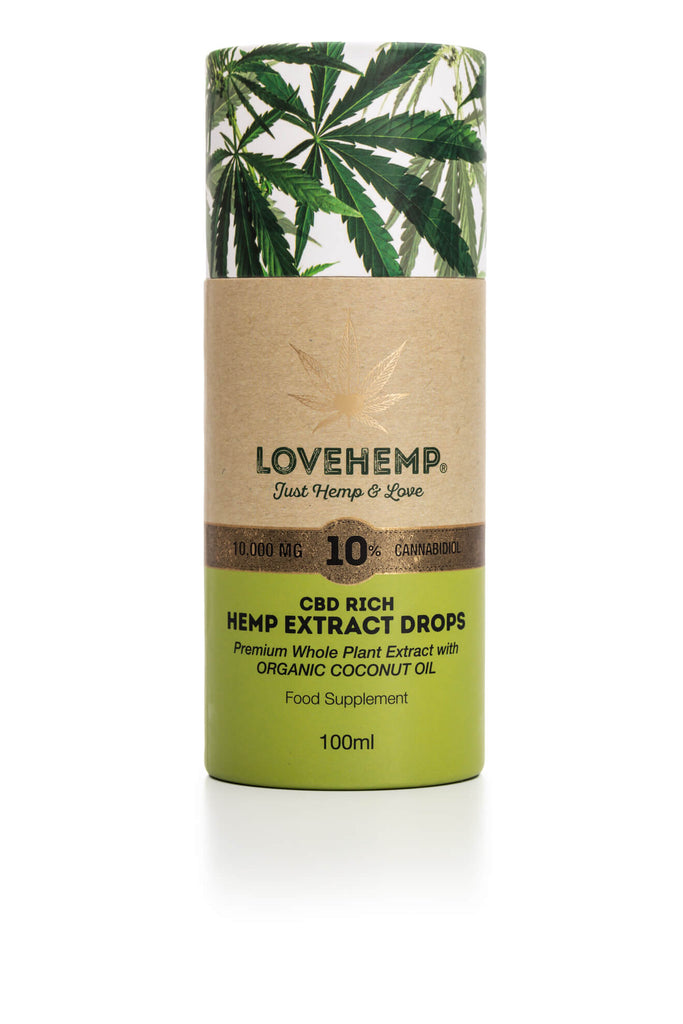 LOVE HEMP® 10000MG 10% CBD OIL 10ML בישראל cbd שמן