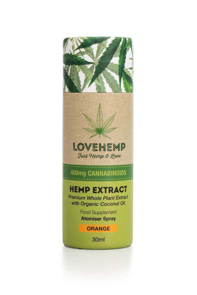 Love Hemp® 400mg CBD – 30ml תרסיס שמן סיבידי  בטעם תפוז