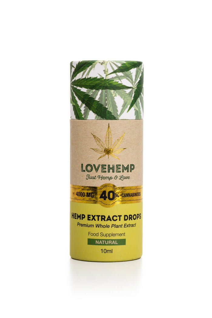LOVE HEMP® 4000MG 40% CBD OIL 10ML בישראל cbd שמן