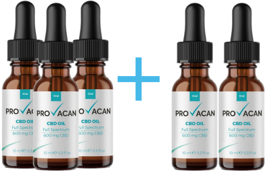 CBD שמן - PROVACAN CBD Oil 600mg 6% 10ml 5× שמן סיבידי