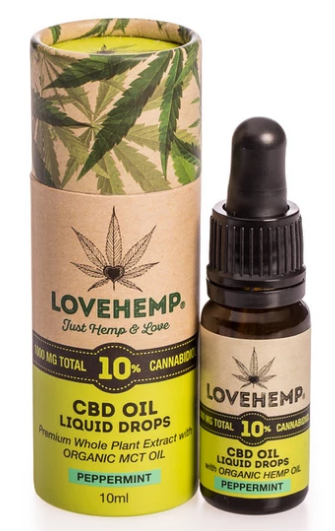 LOVE HEMP® 1000MG 10% CBD OIL 10ML שמן סיבידי