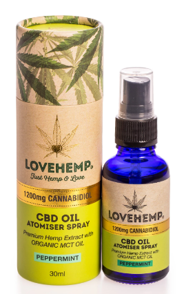 Love Hemp® 1200mg  CBD – 30ml שמן סיבידי תרסיס