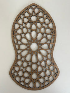 Laser Cut Nalayn Sharif in Oak