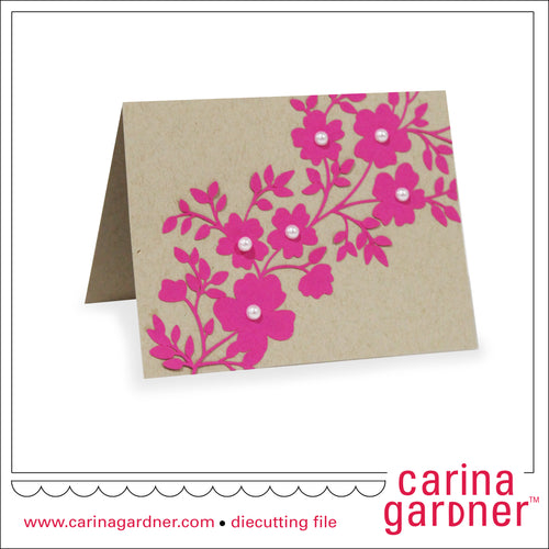 4.25 in x 5.5 in Floral Trellis Card