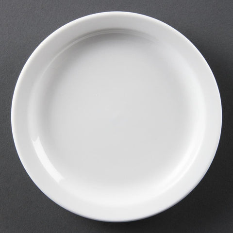 Olympia Whiteware Narrow Rimmed Plates 150mm (Box of 12)