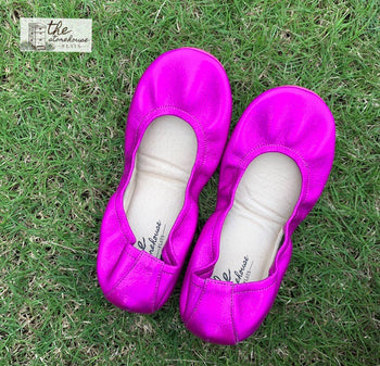 SPECIAL EDITION- Fuchsia Rainbow Storehouse Flats-  (IN STOCK) SIZE 7