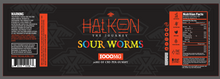 Load image into Gallery viewer, HALKON - PREMIUM CBD SOUR WORMS 1000mg