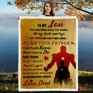 Christmas discount 50% -To my Son- You are yourself- Blanket