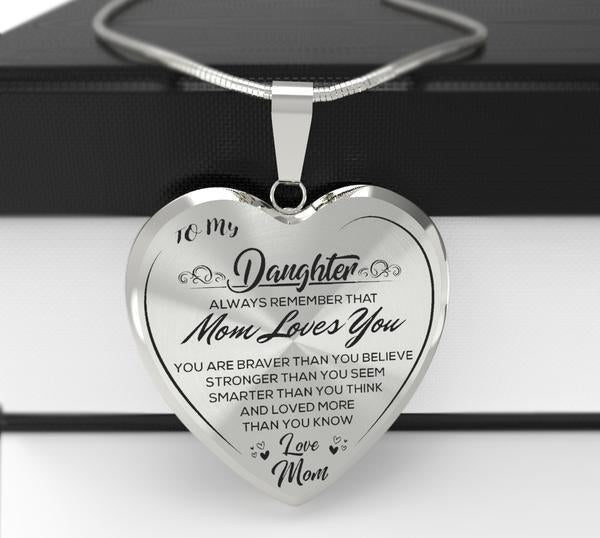"""To My Daughter""Heart Necklace"