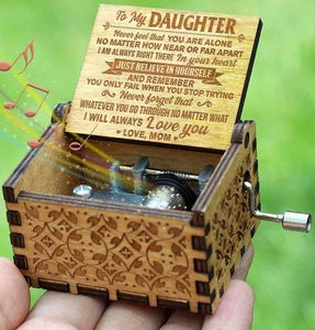 Mom To Daughter ( Believe in yourself ) Engraved Music Box