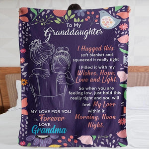 50% OFF Best Gift-To My Granddaughter, Love Your Grandma-Blanket
