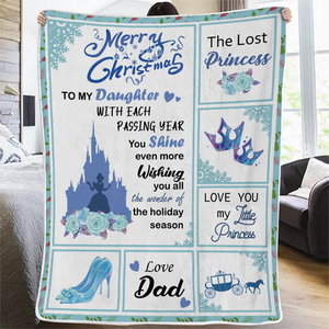 50% OFF Best Gift-To My Daughter,love you my little princess-Blanket