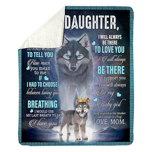 50% OFF Best Gift-To My Daughter, Love Mon-Blanket