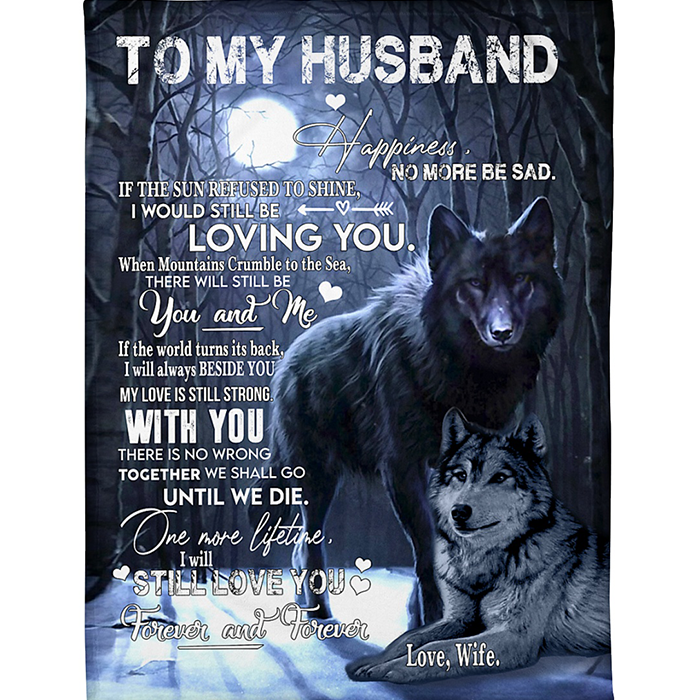 50% OFF Best Gift- To My Husband-Blanket