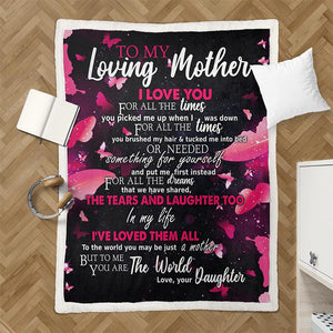 50% OFF Best Gift-To My Loving Mother, I Love You - Blanket