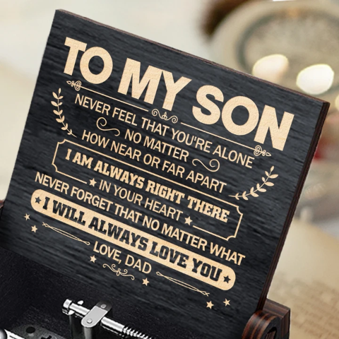 Dad To Son ( Never Feel That You're Alone ) Black Music Box