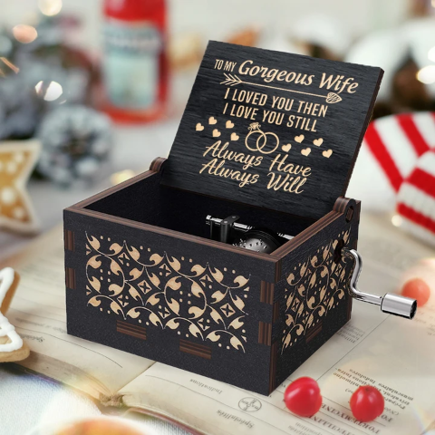 To My Wife ( I Love You ) Black Music Box