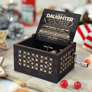 Mom To Daughter ( I Will Always Carry You In My Heart ) Black Music Box