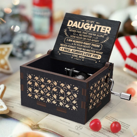 Mom To Daughter ( Never Feel That You're Alone ) Black Music Box