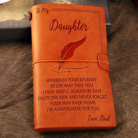 Dad  To Daughter  - ENJOY THE RIDE - Vintage Journal