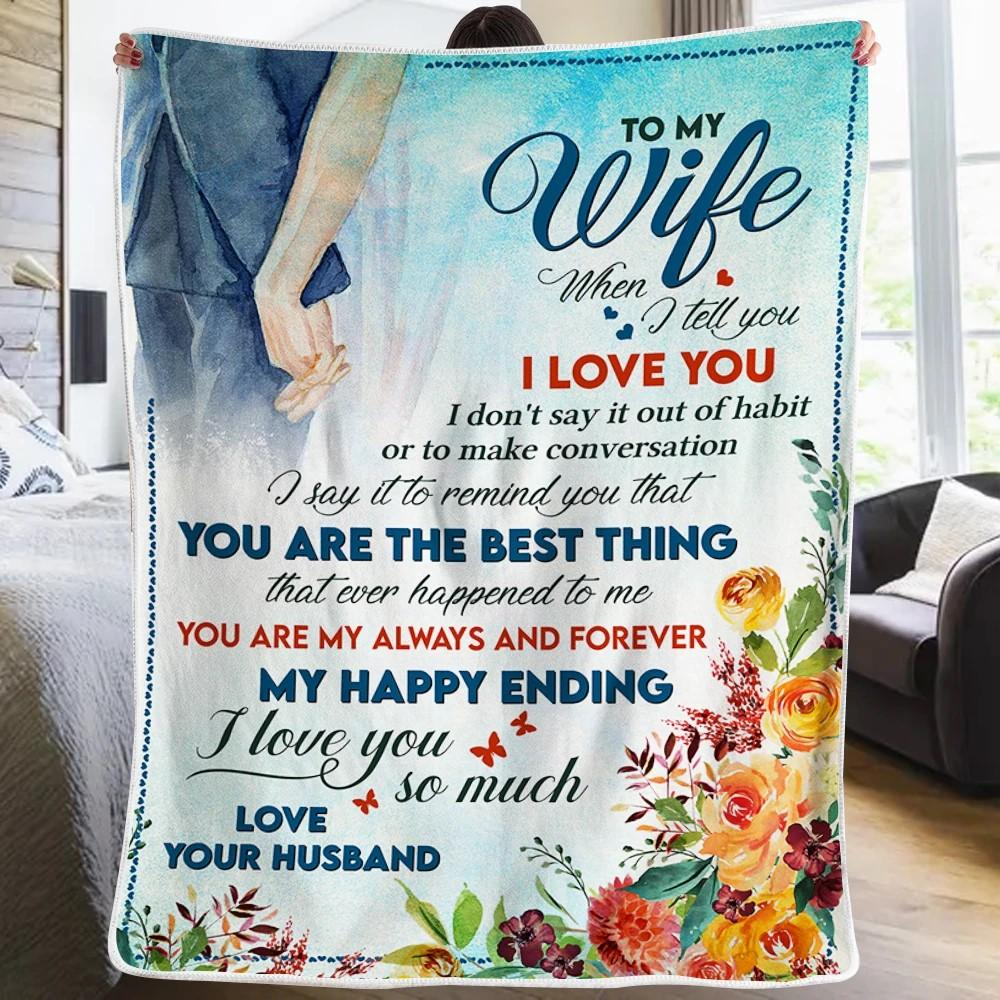 50% OFF Best Gift-Husband To Wife - My Happy Ending - Blanket