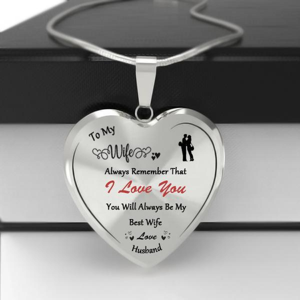 To My Wife Heart Necklace-Forever