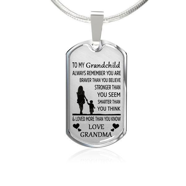 To My Grandchild-Square Necklace(LOVE)