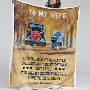 50% OFF Best Gift - Husband To my Wife Blanket