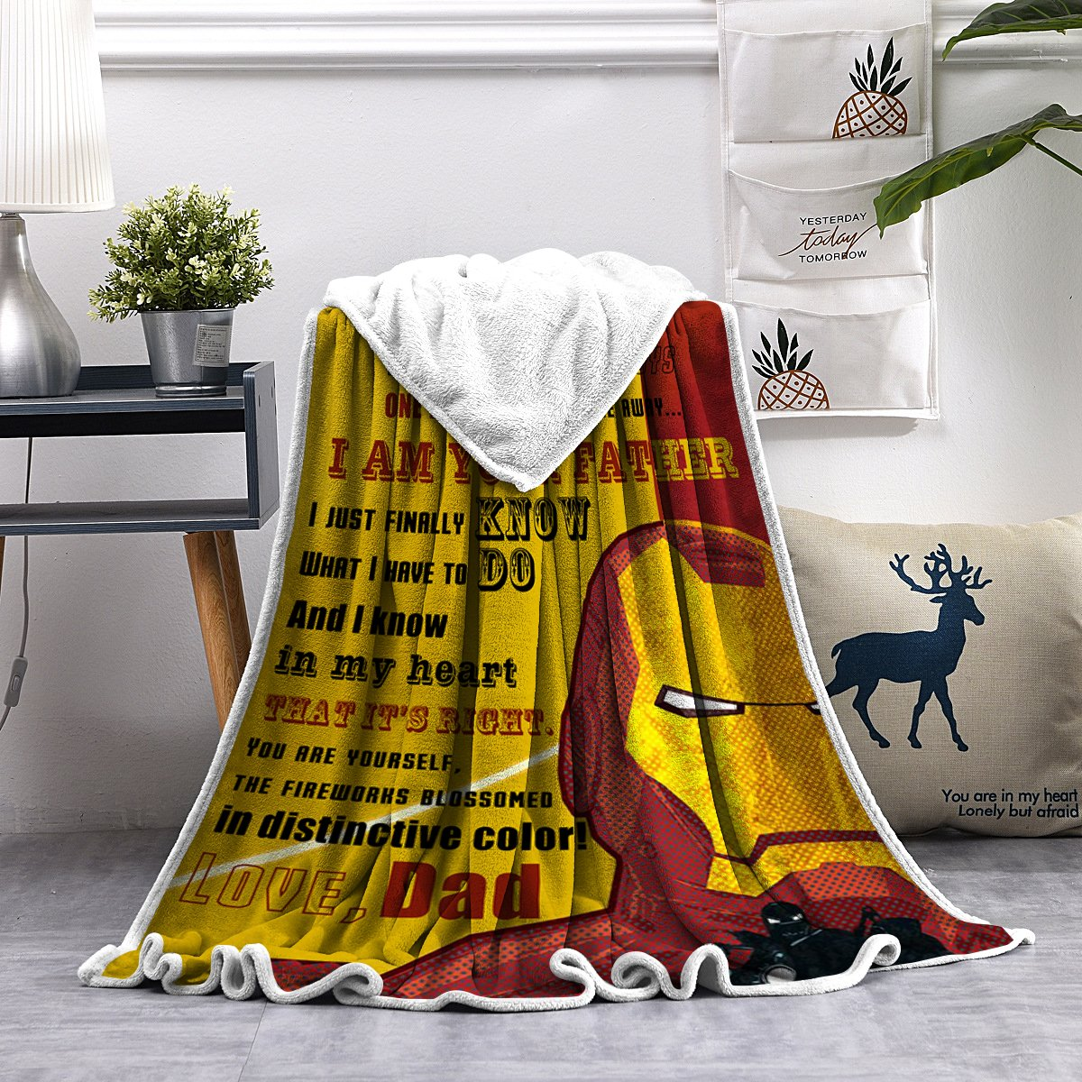 Christmas discount 50%-To my Son- You are yourself,the fireworks blossomed in distinctive color- Blanket