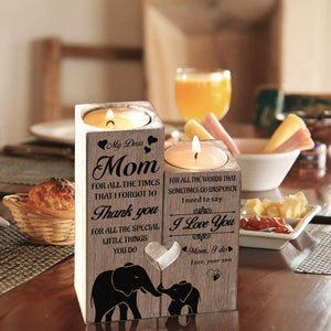 My Dear Mom I Need To Say I Love You Engraved Candle Holder(Son)