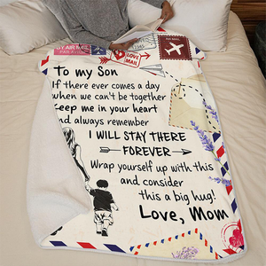 50%OFF Best Gift - Mom To Son -Keep Me In Your Heart- Blanket