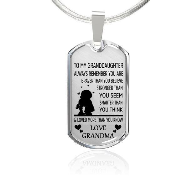To My GrandDaughter(Love Grandma)-Square Necklace